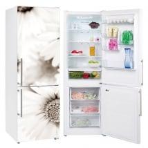 Vinyle et autocollants réfrigérateurs fleurs marguerites