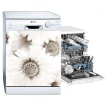 Vinyle et autocollants lave vaisselle fleurs marguerites