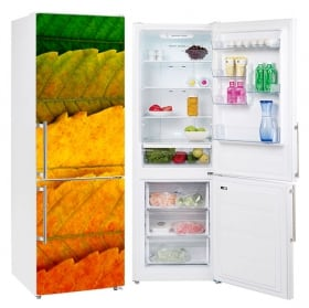 Vinyle réfrigérateurs saisons feuilles arbres