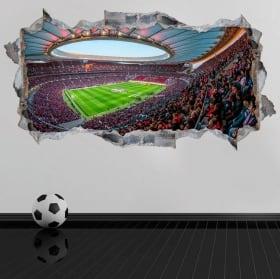 Vinyle 3d stade wanda metropolitano atlético de madrid
