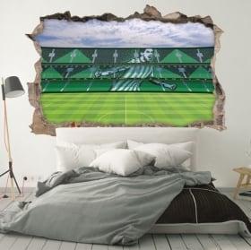 Vinyle murs 3d stade de mestalla valencia club de football
