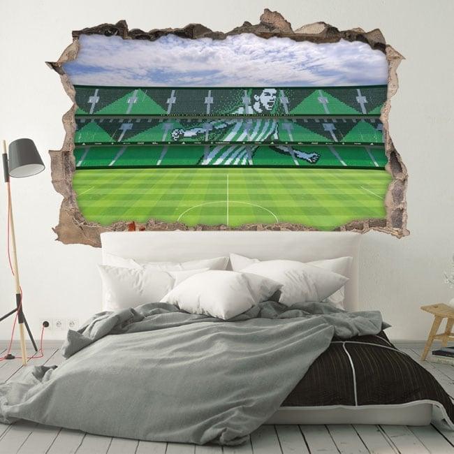 Vinyle 3d stade de football benito villamarín real betis balompié