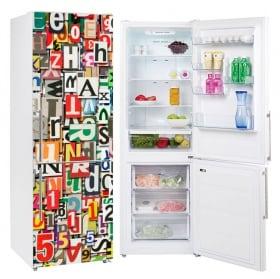 Vinyle réfrigérateurs collage de lettres