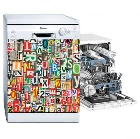 Vinyle lave vaisselle collage de lettres