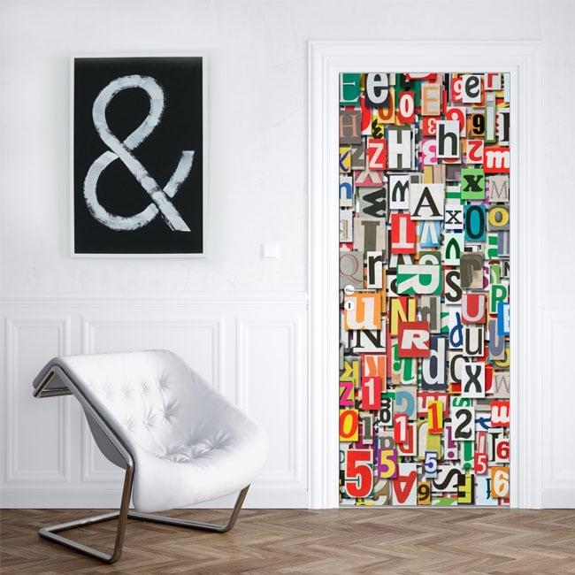 Vinyle pour portes et armoires collage de lettres
