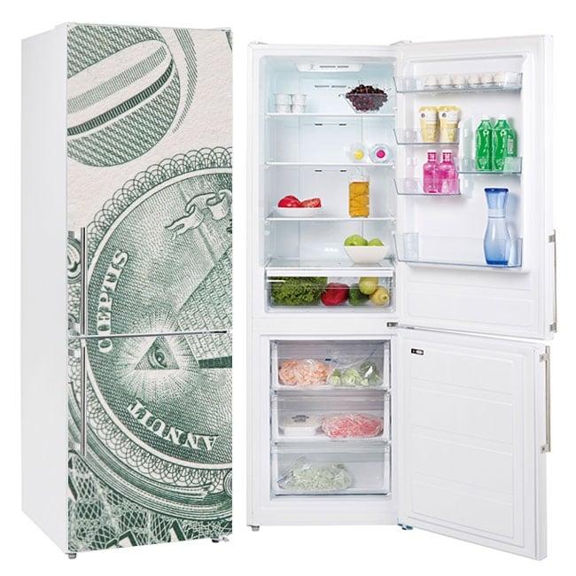 Vinyle décoratif réfrigérateurs dollar des états-unis