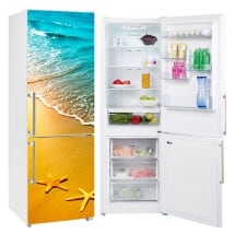 Vinyle décoratif réfrigérateurs étoiles de mer
