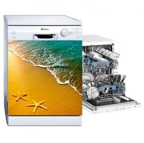 Vinyle décoratif lave vaisselle étoiles de mer