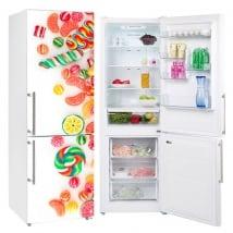 Vinyle décoratif réfrigérateurs bonbons