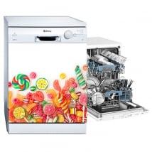 Vinyle décoratif lave vaisselle bonbons