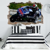 Vinyle les murs 3d motogp jorge lorenzo yamaha