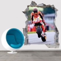 Vinyle et autocollants 3d motogp marc márquez honda