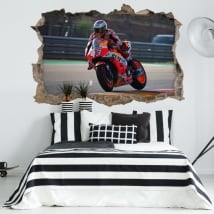 Vinyle adhésif 3d motogp marc márquez honda