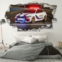 Vinyle et autocollants 3d motogp bmw m2 safety car