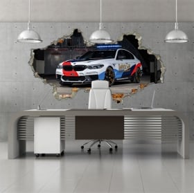Autocollant 3d motogp bmw m5 safety car