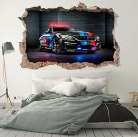 Vinyle décoratif 3d motogp bmw m2 safety car