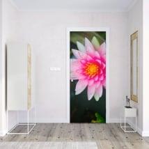 Vinyle pour portes fleur de lotus