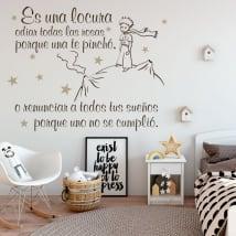 Vinyle décoratif et des autocollants phrases du petit prince