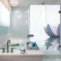 Vinyle écrans de salle de bains style zen