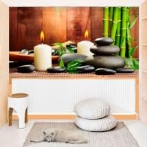 Peintures murales adhésives style zen