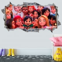 Vinyle 3d princesses disney wifi ralph