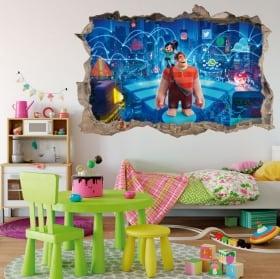 Vinyle décoratif et des autocollants pour enfants petite sirène en mer 3d