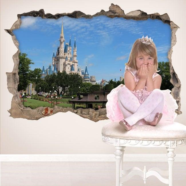 Vinyle 3d château walt disney world