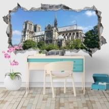 Vinyle décoratif cathédrale notre dame paris france 3d
