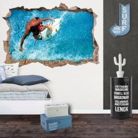 Vinyle décoratif murs kitesurf 3d