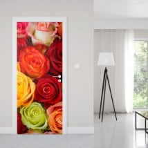 Vinyle pour portes roses colorées
