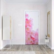 Vinyle pour portes fleur de cerisier japonais