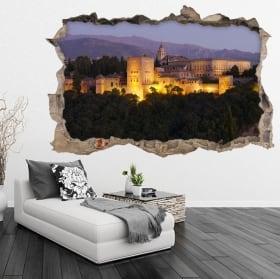 Vinyle adhésif 3d l'alhambra de grenade en espagne