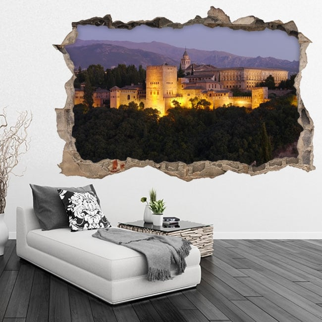 Vinyle 3d l'alhambra ville de grenade en espagne