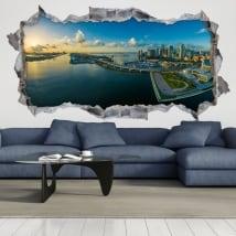 Vinyle décoratif 3d panoramique de miami floride