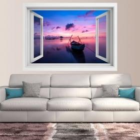 Vinyle 3d fenêtre sunrise island phu quoc vietnam