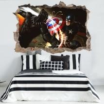 Vinyle et autocollants 3d capitaine amérique guerre civile