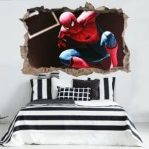 Vinyle 3d spiderman o homme araignée