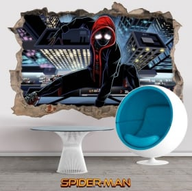 Stickers muraux 3d spider-man loin de chez vous
