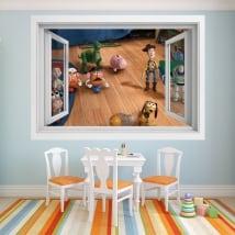 Vinyle pour enfants fenêtre 3d histoire de jouets 4