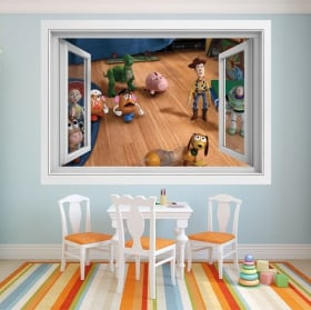 Vinyle pour enfants fenêtre histoire de jouets 4