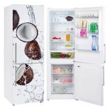 Vinyles pour réfrigérateurs noix de coco dans l'eau