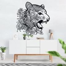 Vinyle et autocollants tête de tigre tribal