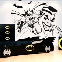 Autocollants de vinyle décoratif batman et joker