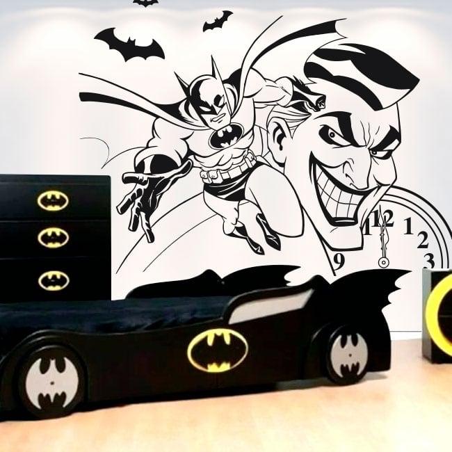 Autocollants de vinyle décoratif batman et joker