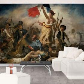Murales eugène delacroix la liberté guidant le peuple