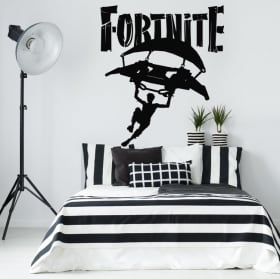 Vinyle jeux video fortnite deltaplane ou planeur
