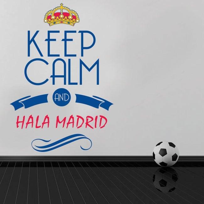 Vinyle décoratif football keep calm et hala madrid