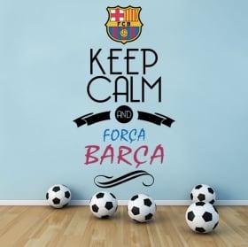 Vinyle club de football barcelona bouclier