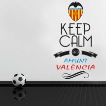 Autocollants en vinyle football keep calm and amunt valència