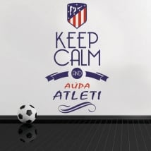 Autocollants en vinyle keep calm and aúpa atleti